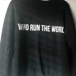 "Black ""Who Run The World"" sweatshirt"